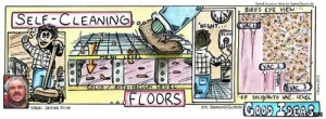 self cleaning floors