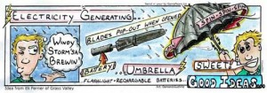 umbrella electric generating